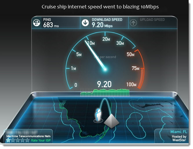 MTN Ramps Up Its Cruise Ship Internet Speed To Mbps Cruise - Cruise ship speed